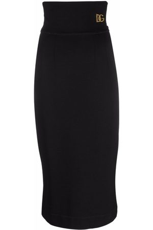 Dolce & Gabbana Logo-Plaque Pencil Skirt