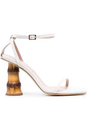 GIA Leather Baci Bamboo-Heel Sandals