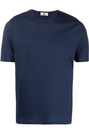 Kired Navy Cotton Crew-Neck Cotton T-Shirt