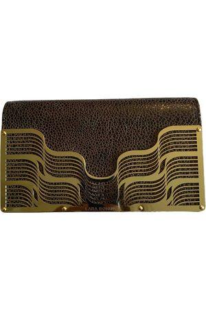 LARA Leather clutch bag