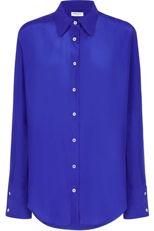 SERENA BUTE The Oversized Shirt - Sapphire Blue
