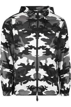 Burberry Monochrome Camouflage Print Jacket