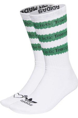 adidas X Human Made Striped Socks, White And
