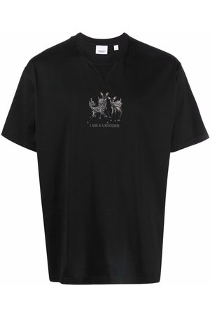 Burberry Embroidered-Unicorn T-Shirt
