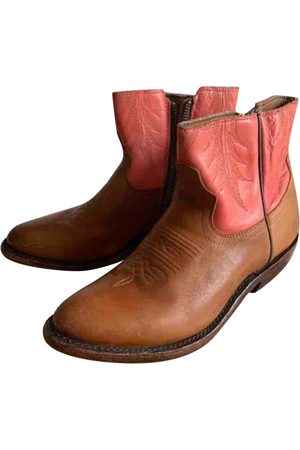 Ash Women Ankle Boots - Leather western boots