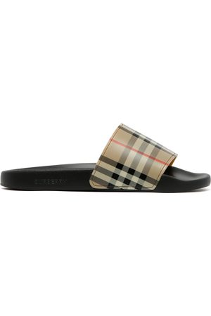 Burberry Furley Check Slide Sandals