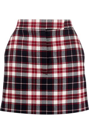 Thom Browne Wool Check Print Sack Mini Skirt