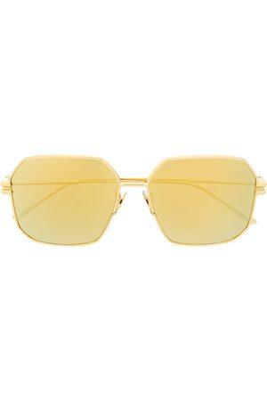 Bottega Veneta BV1047S hexagonal-frame sunglasses