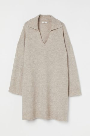 H&M Women Knitted Dresses - Collared Knit Dress