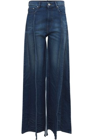 Y / PROJECT Cotton Denim Wide Leg Jeans W/panels