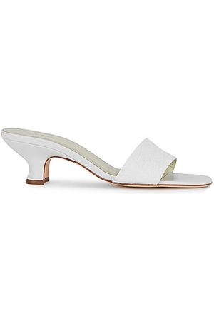 By Far Women Mules - Freddy 50 white leather mules