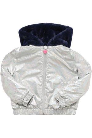 Billieblush Girls Bomber Jackets - Reversible Hooded Bomber Jacket