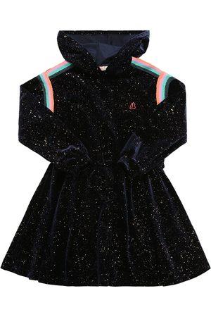 Billieblush Glittered Velvet Hooded Dress