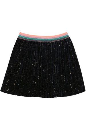Billieblush Glittered Velvet Pleated Skirt