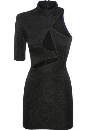 Stella McCartney Lurex Stretch Mini Dress W/cut Outs