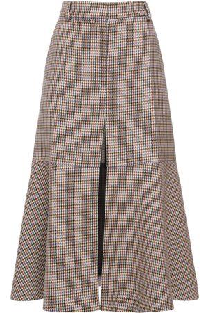 Stella McCartney Women Maxi Skirts - Houndstooth Long Skirt
