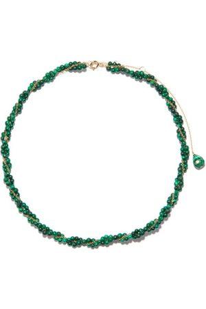 YVONNE LÉON Lady Beaded Malachite, Topaz & 9kt Gold Necklace - Womens