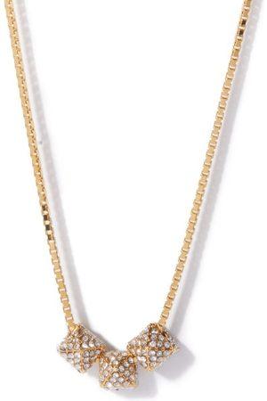 VALENTINO GARAVANI Women Necklaces - Crystal-embellished Roman Stud Necklace - Womens - Crystal