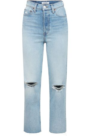 RE/DONE Women High Waisted - 70s High Rise Stove Pipe Jeans