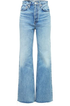RE/DONE 70s Ultra High Rise Wide Leg Jeans