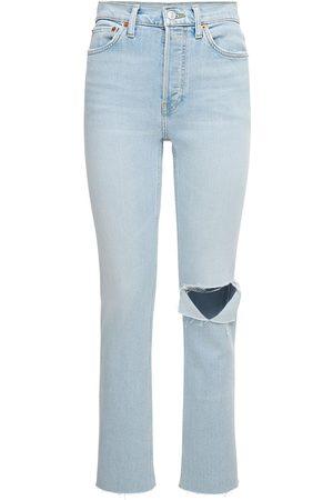 RE/DONE Women Slim - 80s Distressed Slim Straight Jeans