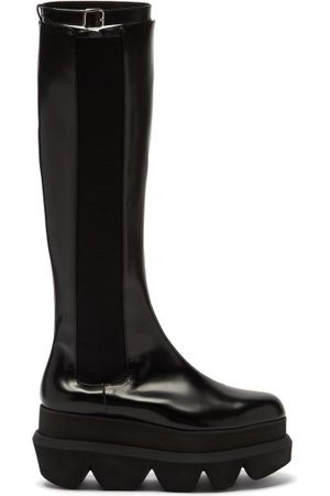SACAI Women Heeled Boots - Platform-sole Leather Chelsea Boots - Womens