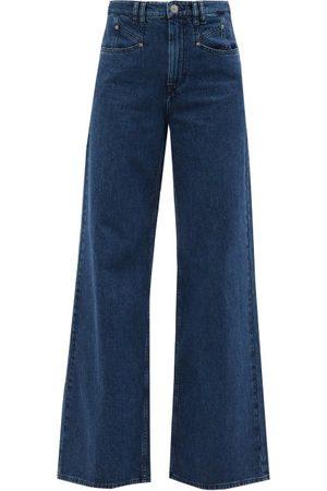 Isabel Marant Women High Waisted - Lemony High-rise Wide-leg Jeans - Womens - Denim