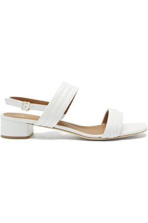 MALONE SOULIERS Women Heeled Sandals - Sana Block-heel Leather Slingback Sandals - Womens - Multi