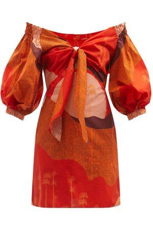 JOHANNA ORTIZ Santillana Del Llano Puff-sleeve Cotton Mini Dress - Womens
