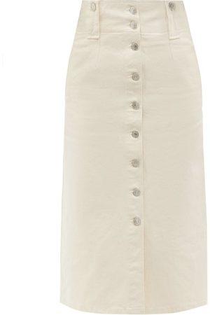 Isabel Marant Women Midi Skirts - Blehora Buttoned Denim Midi Skirt - Womens - Ivory