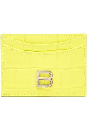 Balenciaga Women Purses - Hourglass Cross-embossed Leather Cardholder - Womens