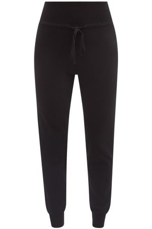 LIVE THE PROCESS Drawstring-waist High-rise Knit Track Pants - Womens
