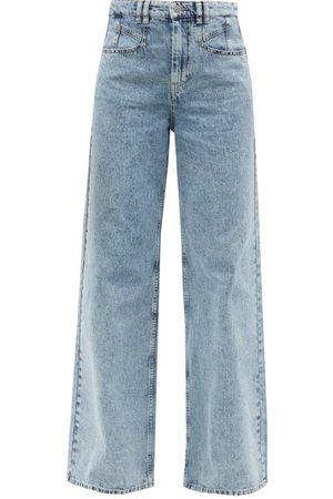 Isabel Marant Lemony High-rise Wide-leg Jeans - Womens - Light Denim