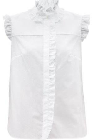 Erdem Women Tops - The Romantic Ruffled Cotton-poplin Top - Womens