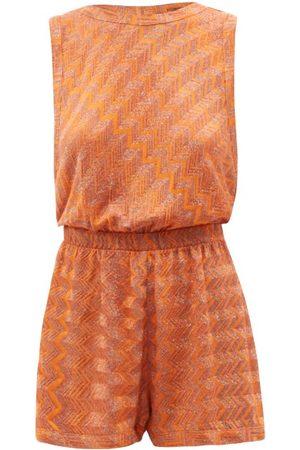 Missoni Women Playsuits - Zigzag-jacquard Knit Playsuit - Womens
