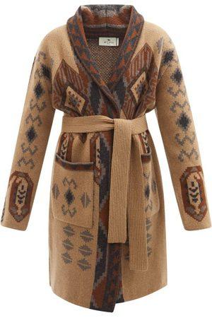 Etro Pasadena Jacquard Wool Cardigan - Womens - Multi