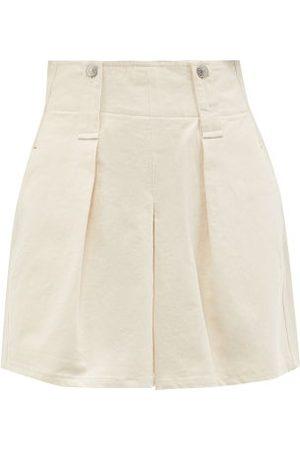 Isabel Marant Dicochia Pleated Cotton-twill Shorts - Womens - Ivory
