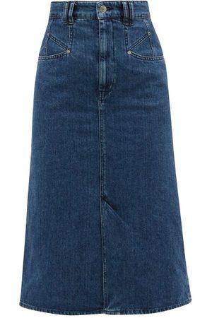 Isabel Marant Dipoma Denim Pencil Skirt - Womens - Denim