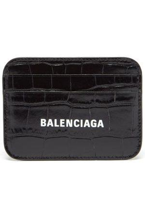 Balenciaga Women Purses - Cash Logo-print Croc-effect Leather Cardholder - Womens