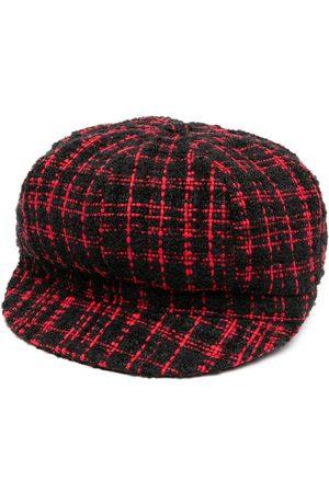 Dolce & Gabbana / Cotton-Wool Blend Tweed Baker Boy Hat