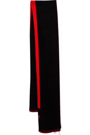 Givenchy Red & Striped Intarsia Wool Scarf