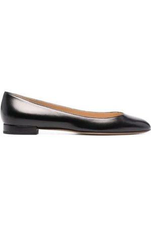 Francesco Russo Round-Toe Ballerina Shoes
