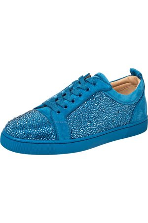 Christian Louboutin Suede Louis Junior Strass Low Top Sneakers Size 40