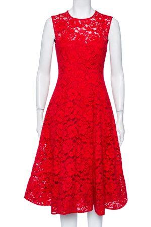 CH Carolina Herrera Lace Sleeveless Flared Midi Dress S