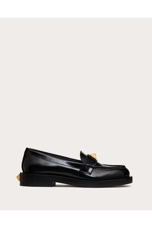 VALENTINO GARAVANI Women Loafers - Roman Stud Brushed Calfskin Loafer 30mm Women 100% Pelle Di Vitello - Bos Taurus 36