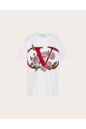 VALENTINO Women T-shirts - Embroidered Jersey T-shirt Women 100% Cotton L