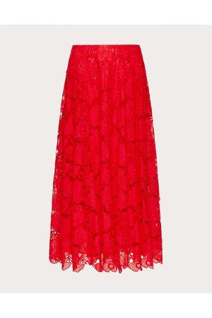 VALENTINO Women Skirts - Mussoline Carving Skirt Women Cotton 100% 38