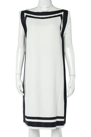 CH Carolina Herrera Monochrome Crepe Tunic Dress S