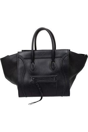 Céline Leather Medium Phantom Luggage Tote