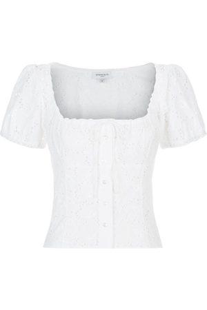 SERENA BUTE The Bodice Top - White Lace Cotton